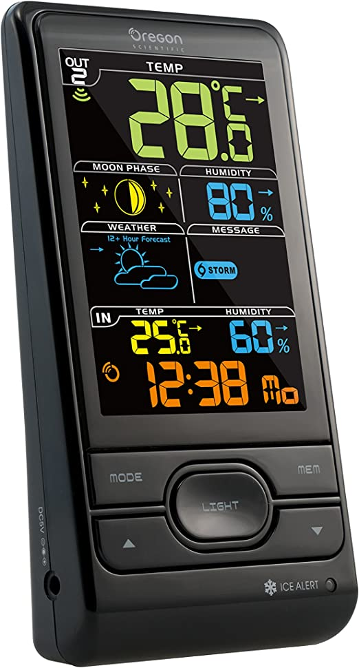 NEW Oregon Scientific BAR208SX Weather Station Humidity /& Weather Alert Colour