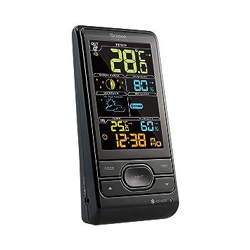 Oregon Scientific BAR208SX Estación meteorológica con temperatura interior/exterior y humedad interior/exterior, alerta hielo, fase lunar, pantalla ...