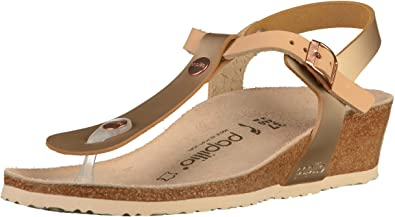 8b9f02dca55e Papillio Ashley Womens Frosted Metallic Rose Leather Sandals