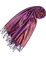 LORENZO CANA - Pashmina - Imprimé Cachemire - Femme Purple Pink Orange Taille unique