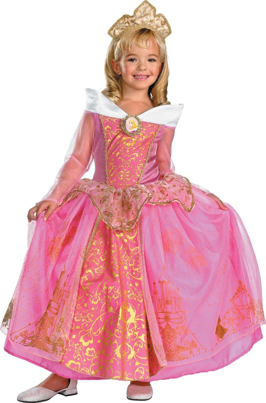 Storybook Aurora Prestige Child Costume - X-Small by Disguise (Image #1)