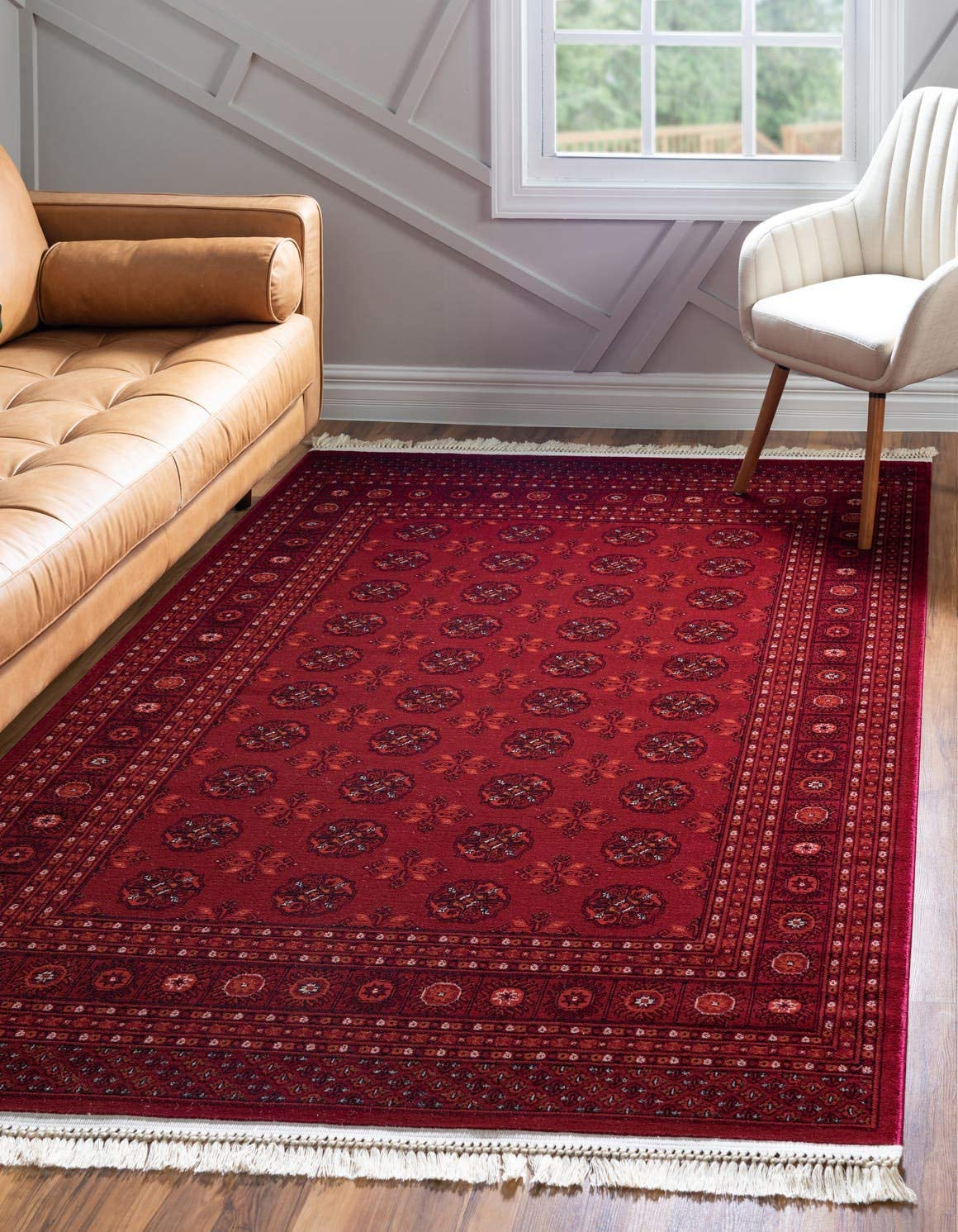 Unique Loom Tekke Collection Tribal Traditional Torkaman Red Area Rug 9 0 x 12 0
