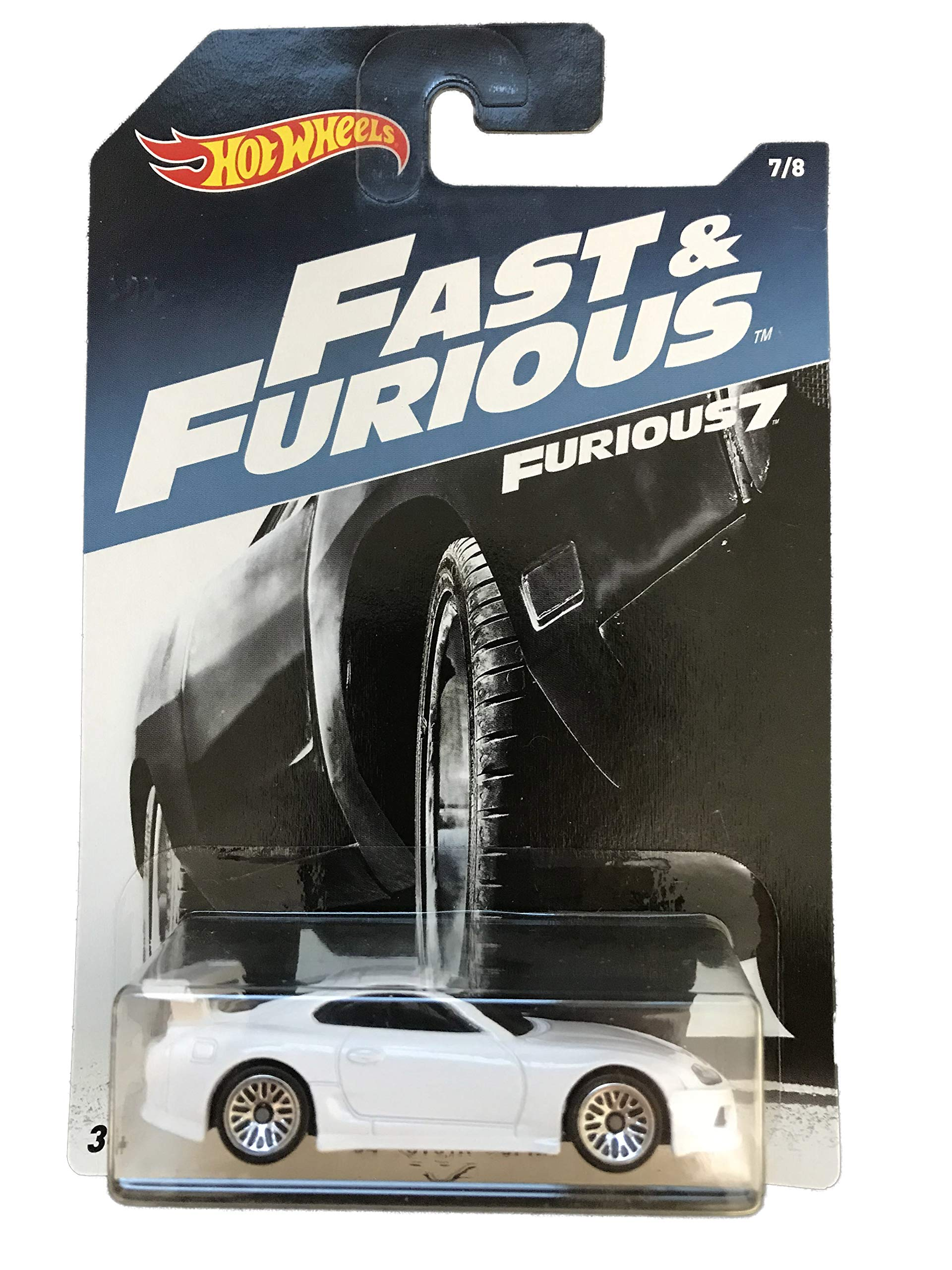 Mattel Hot Wheels Fast & Furious 7 White 94 Toyota Supra 7/8