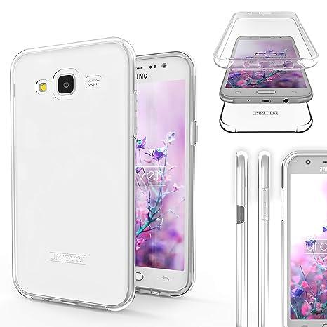 Urcover® Funda Compatible con Samsung Galaxy J5 2015, Carcasa Mejorada Cover 360 Grados, edicion Dura, Case Crystal Clear Transparente