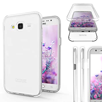 Urcover Funda Compatible con Samsung Galaxy J5 2015, Carcasa Mejorada Cover 360 Grados, edicion Dura, Case Crystal Clear Transparente