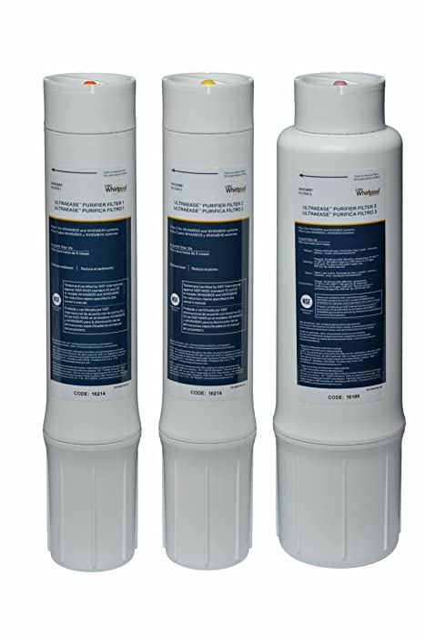 Whirlpool WHEMBF Purifier (Fits Systems WHAMBS5 & WHEMB40) Replacement Water Filter Set Single Unit
