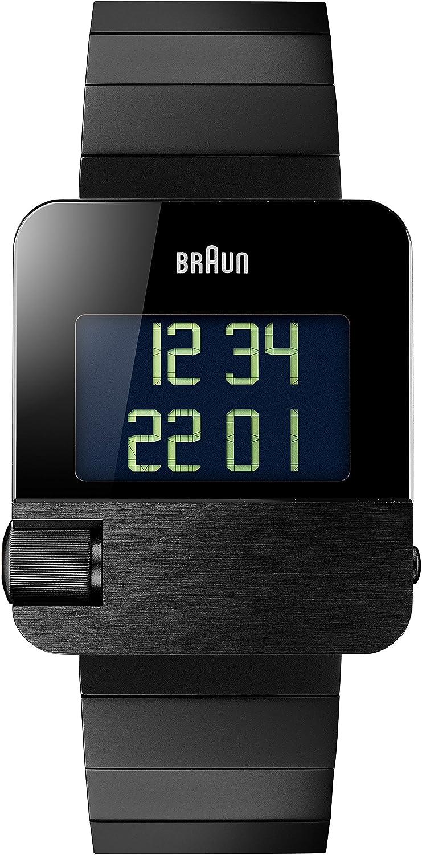 Braun Men s BN0106BKBTG Prestige Digital Digital Display Swiss Quartz Black Watch