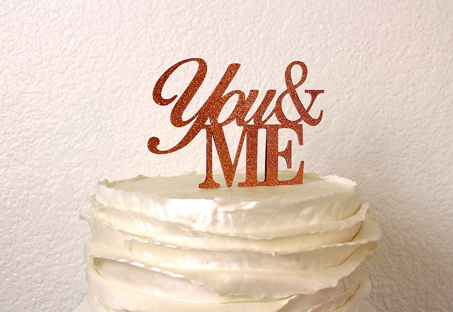 All About Details Black You-/&-Me Cake Topper