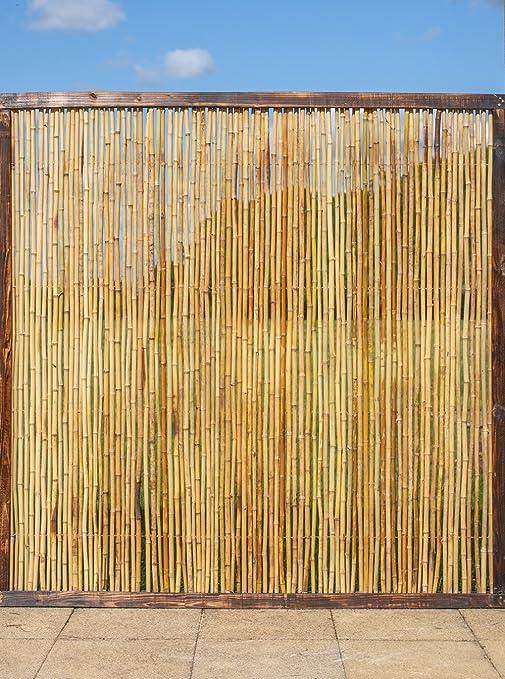 Valla de bambú Panel con marco - 182, 88 cm x 91, 44 cm: Amazon.es: Jardín