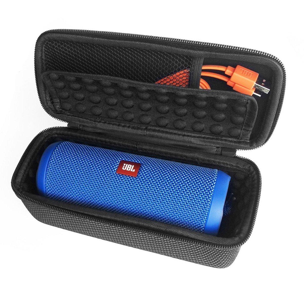 LEORX Cover protettiva EVA per JBL Flip 3 altoparlante Bluetooth senza fili (nero + bianco)