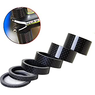 PLATT Bike Headset Top Cap 3K Carbon Fiber Bicycle Stem Cap with Bike Fork Expander Fits 1-1//8 Stems and Forks