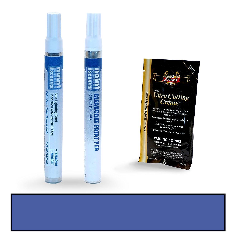 PAINTSCRATCH Blue Diamond Metallic FT/M7411 for 2018 Ford Fusion - Touch Up Paint Pen Kit - Original Factory OEM Automotive Paint - Color Match Guaranteed