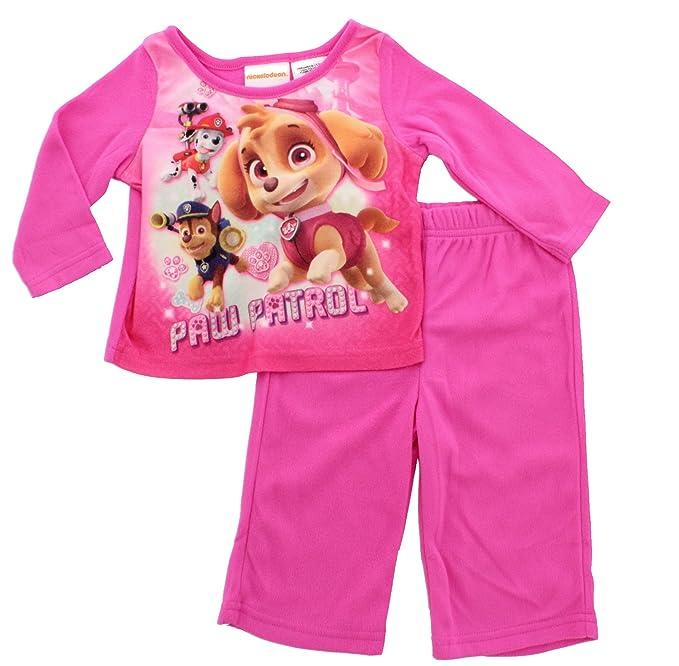 04ce839a3 Amazon.com: Paw Patrol Skye Chase Marshall 2 Piece Baby / Toddler Girls  Flannel Pajama Set: Clothing