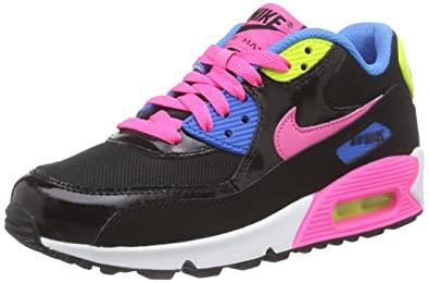 online retailer 3811e 70b1f Nike Air Max 90 Mesh (GS), Baskets Basses Fille, Multicolore - Mehrfarbig