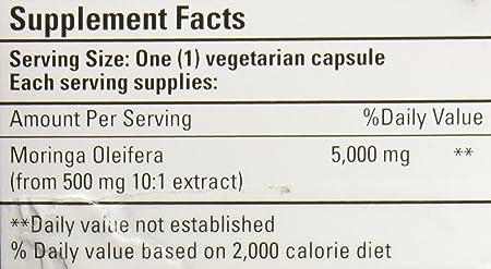 BIO NUTRITION INC Moringa 5,000 MG SUPR Food, 60 VCAP (Pack of 2)