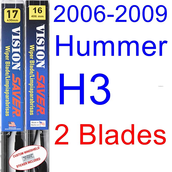 Amazon.com: 2006-2009 Hummer H3 Wiper Blade (Rear) (Saver Automotive Products-Vision Saver) (2007,2008): Automotive