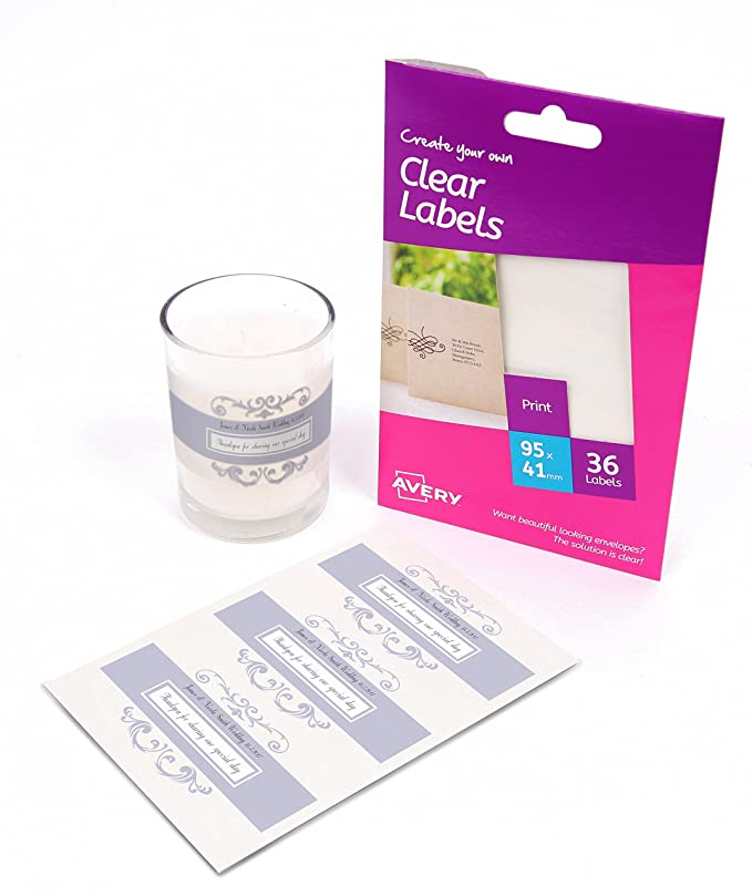 Avery create your own self adhesive clear labels 3 labels per a6 avery create your own self adhesive clear labels 3 labels per a6 sheet amazon office products reheart Gallery