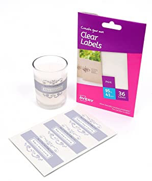 photograph about Clear Printable Labels for Glass identify Avery Deliver Your Private Self-Adhesive Apparent Labels, 3 Labels For every A6 Sheet