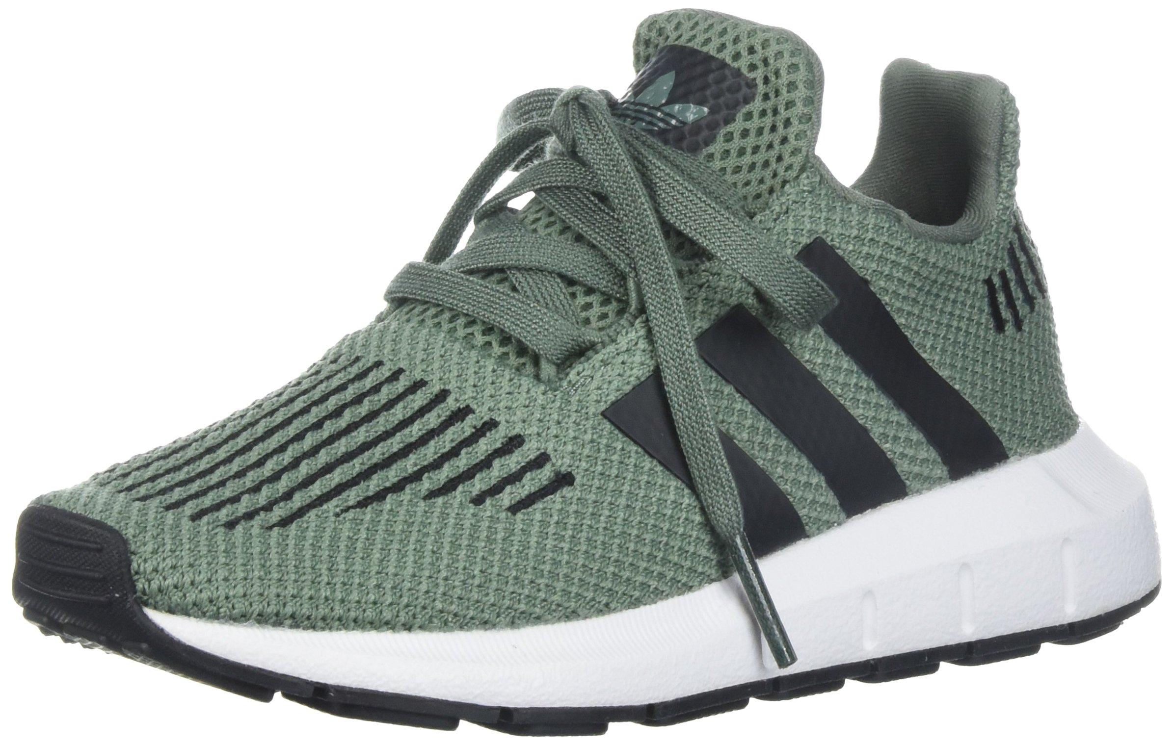 adidas Boys' Swift Run C Sneaker, Trace Green/Black/White, 12 M US Little Kid