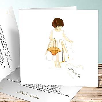 Einladungskarten Zur Goldene Hochzeit Blumenmädchen 5