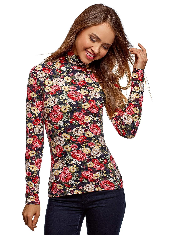 oodji Ultra Women's Basic Cotton Turtleneck Pullover RIFICZECH s.r.o. 15E17001
