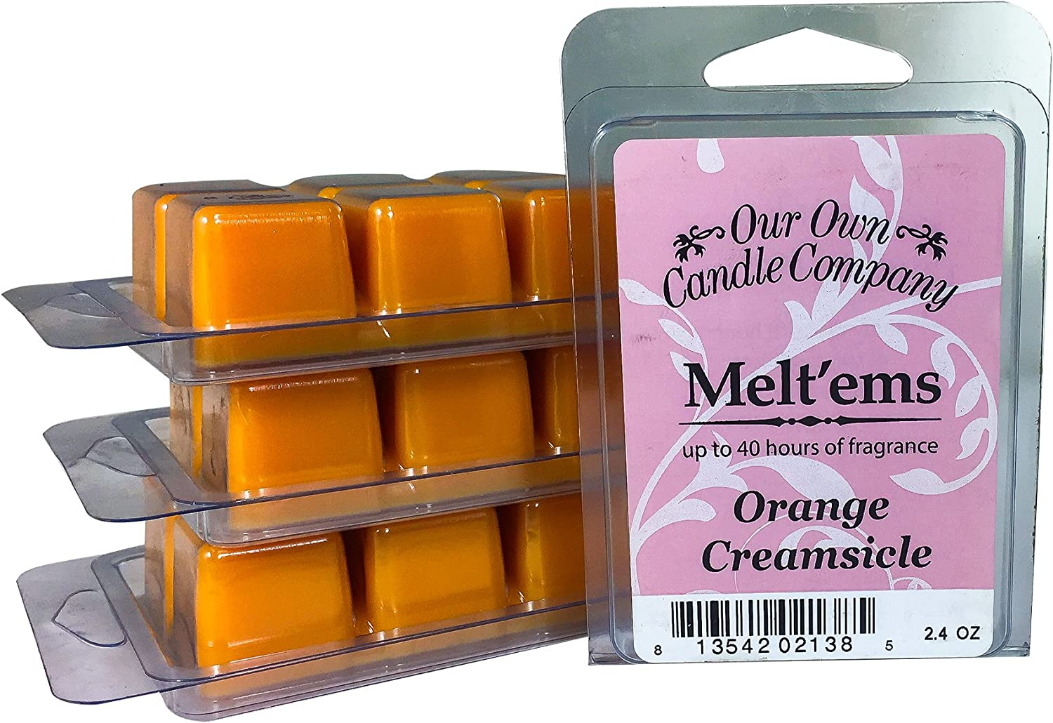 Our Own Candle Company Premium Wax Melt, Orange Creamsicle, 6 Cubes, 2.4 oz (4 Pack)