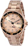 Invicta Men's 15185SYB Pro Diver Rose Gold Dial 18k Ion-Plated Stainless Steel Watch with Impact Case