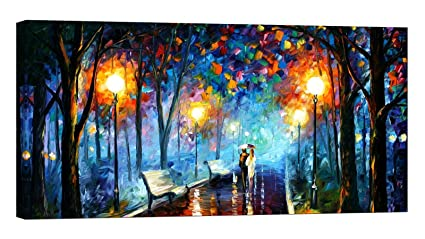 393c63f481e2 LightFairy Glow in The Dark Canvas Painting - Stretched and Framed Giclee Wall  Art Print -