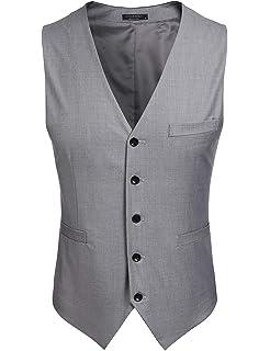1a27d24d23d38 (クーファンディ)Coofandy ジレ ベスト メンズ ビジネス フォーマル スーツ仕立て 2ポケット 5ボダン