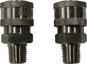 Shark Pressure Washers 89222140 Stainless Male Coupler, 1/4-Inch, 2-Pack