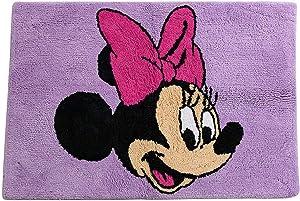 Disney Minnie Mouse Unicorn Tufted Cotton Bath Rug, Kids Bath (Offical Disney Product)
