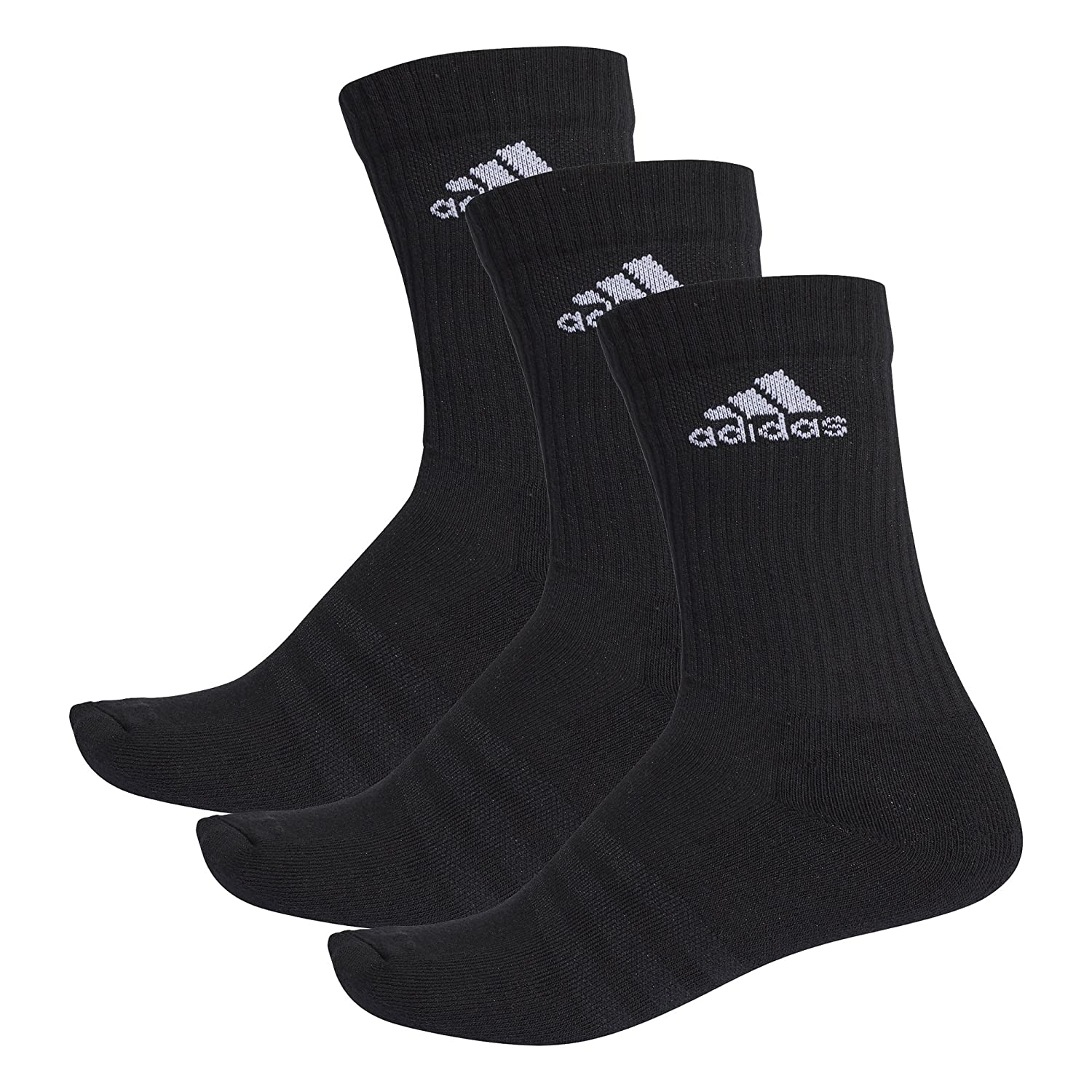 adidas Unisex 3-Stripes Performance Crew Socks 888590343710