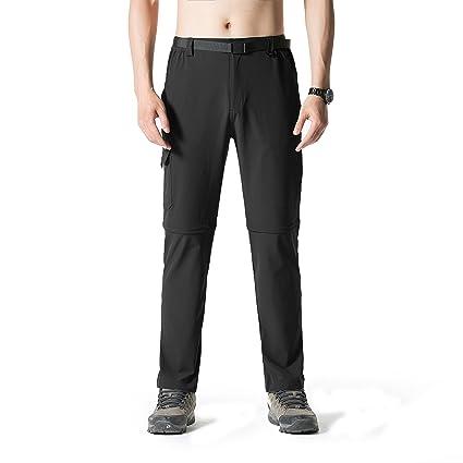 eb16ba52236e2 SEEU Men s Outdoor Quick-dry Lightweight Waterproof Hiking Mountain Pants  Black