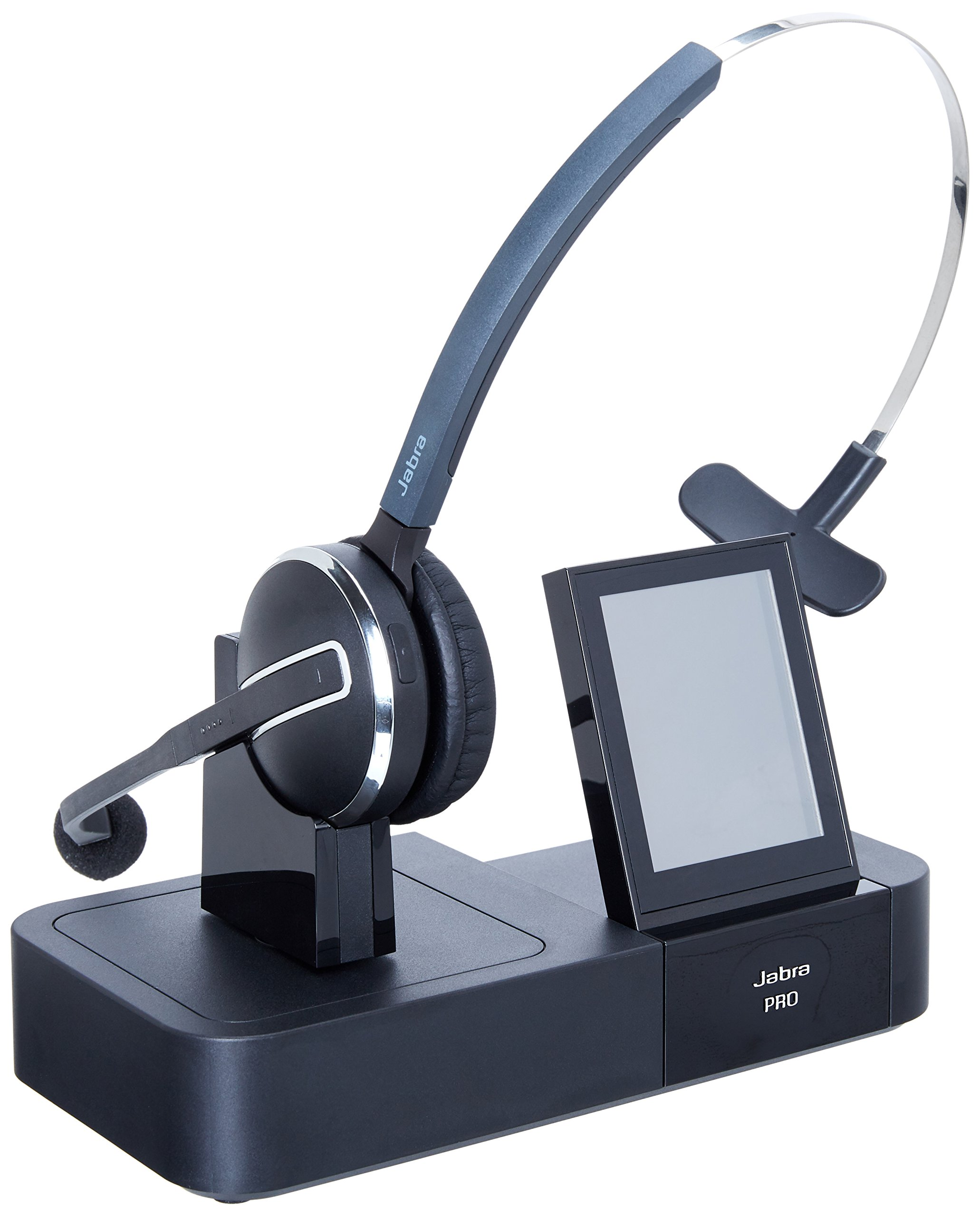 Jabra PRO 9460 Mono Wireless Headset with Touchscreen for Deskphone & Softphone