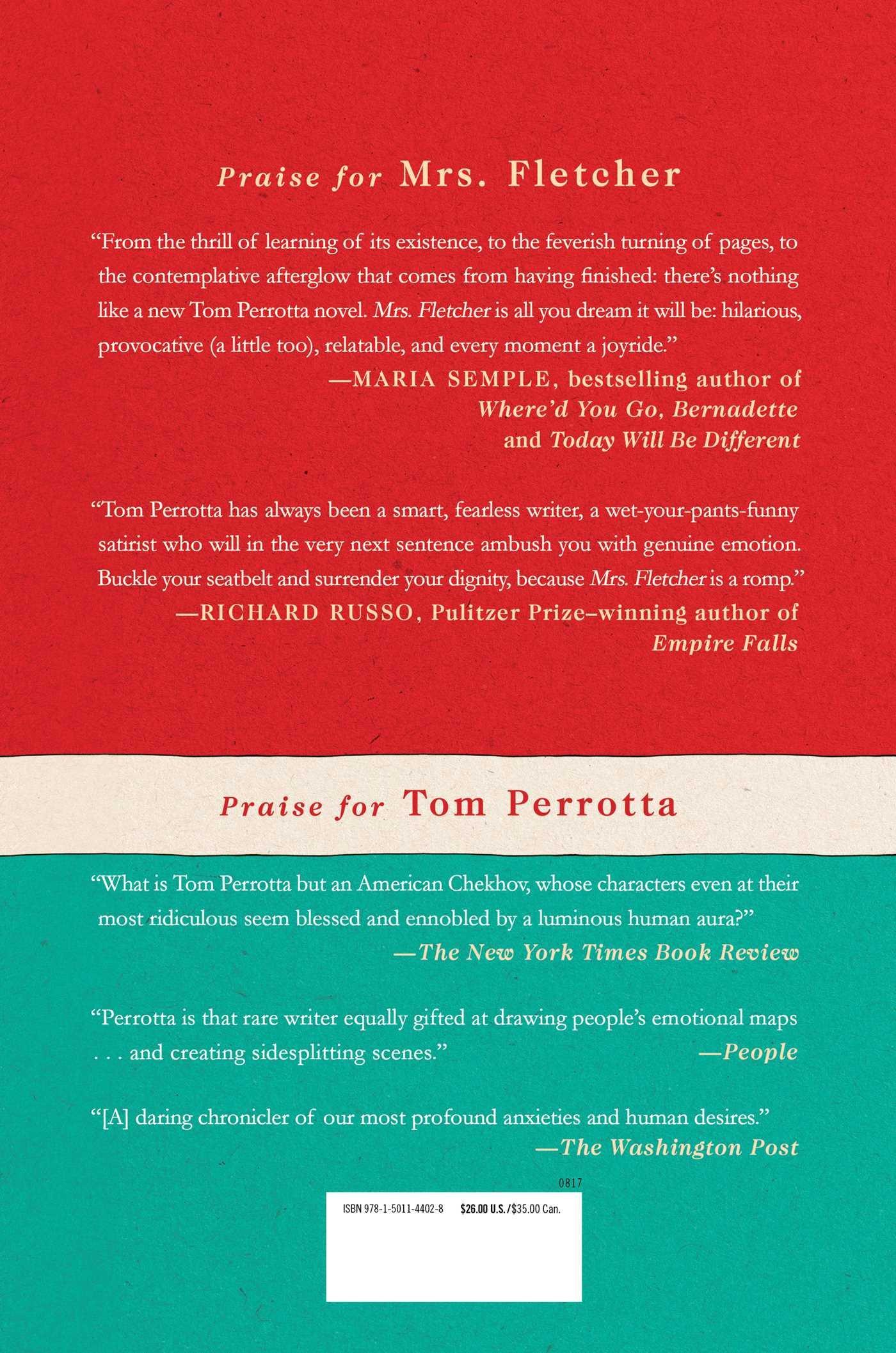 mrs fletcher a novel tom perrotta 9781501144028 amazon com books