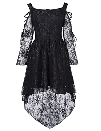 7966c33511b1 Belle Poque Women Steampunk Gothic Victorian Lace Dress Amelia Style BP350:  Amazon.co.uk: Clothing