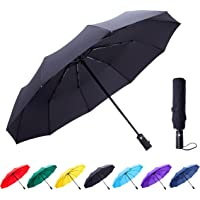 Fidus Large Automatic Windproof Umbrella-10 Ribs Compact Folding Travel Golf Umbrella