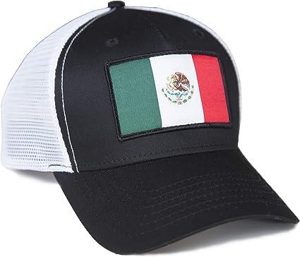 International Tie Mexico Flag Snapback Trucker Baseball Hat