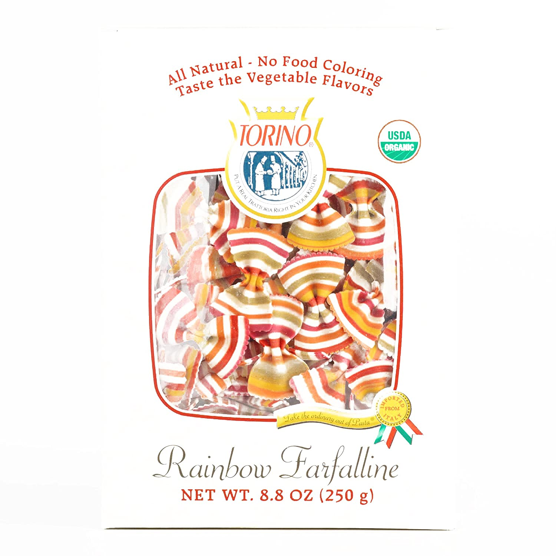 Amazon.com : Torino Rainbow Farfalline Mini Pasta 8.8 oz each (3 Items Per Order, not per case) : Grocery & Gourmet Food