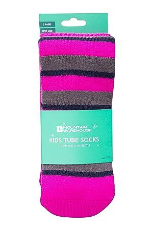 Mountain Warehouse Calcetines Invierno de Ski para niños Pack-de-2 Rosa Talla única: Amazon.es: Deportes y aire libre