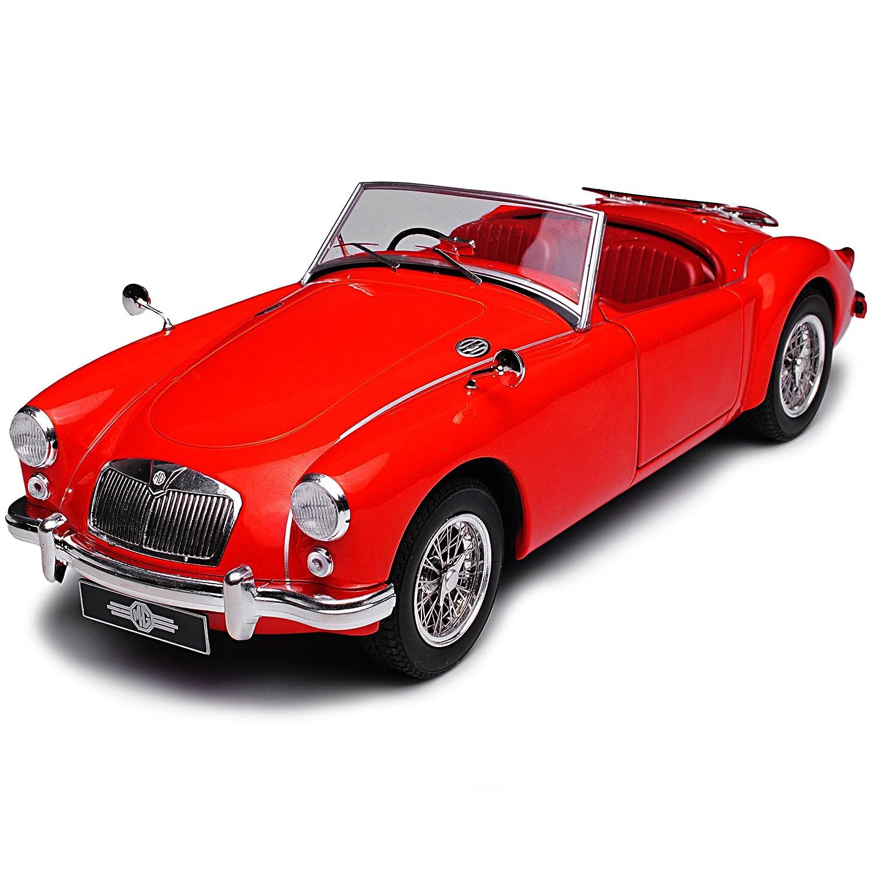 Triple 9 MG MGA MKI 1500 Cabrio Rot 1955-1962 1//18 PremiumX Modell Auto mit individiuellem Wunschkennzeichen