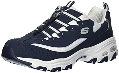 7fdcdb6cc Skechers Women s D Lites-Zip Along Sneaker Navy White ...