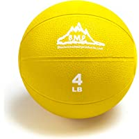Black Mountain Products Professional Exercise Medicine Ball, Yellow, 4 Lbs