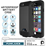PunkJuice iPhone 6S+ Plus/6+ Plus Battery Case Black - Waterproof Slim Portable Power Juice Bank with 4300mAh High Capacity - Fastcharging - 120% Extra Battery Life - 3 Year EXCHANGE WARRANTY