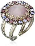 """Sorrelli  """"Violet Eyes"""" Circular Cocktail Ring with Crystal Edge Accents"""