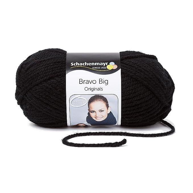 Schachenmayr Bravo Big 9807705-00199 schwarz Handstrickgarn: Amazon ...