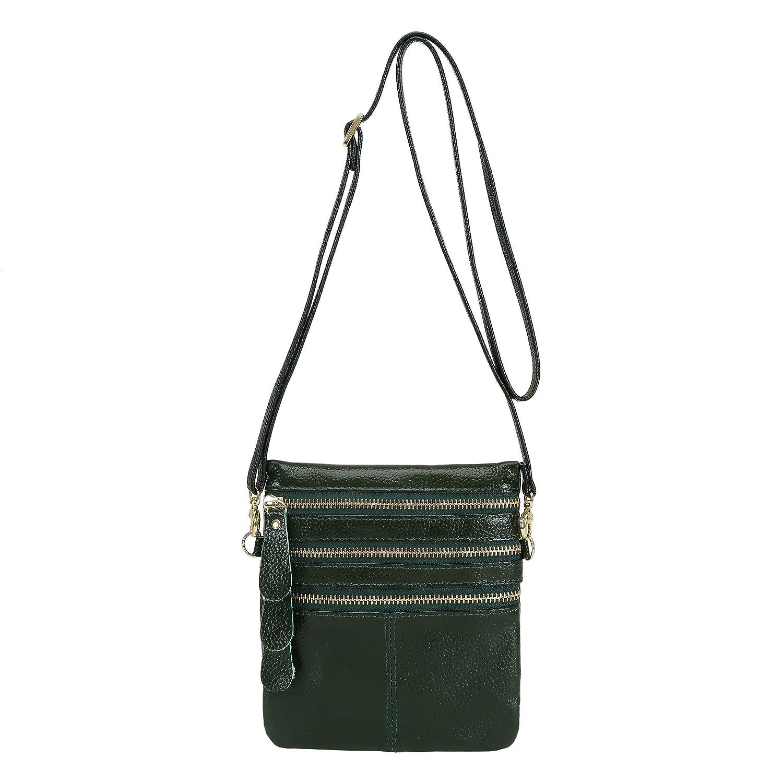 Amazon.com: Wetiny - Monedero de piel con tres bolsillos y ...
