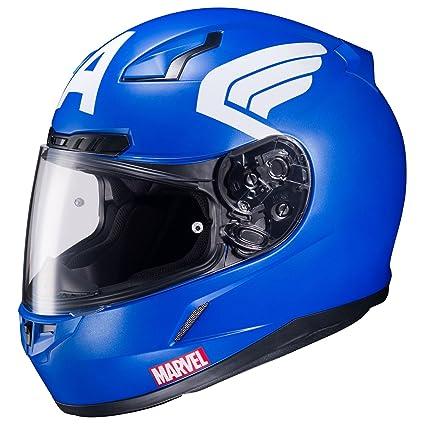 Amazon.com: HJC CL-17 Marvel Captain America Full Face Helmet (XXL): Automotive
