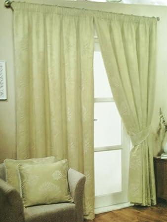 Green Curtains amazon green curtains : J & P FLOURISH PALE GREEN CURTAINS (163x183cm): Amazon.co.uk ...