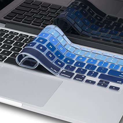 official photos 23c99 70426 Kuzy Blue Ombre Colors Keyboard Cover Silicone Skin for MacBook Pro 13